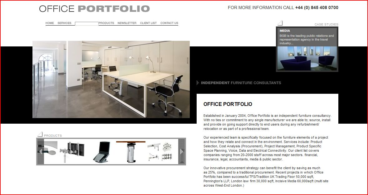 Office Portfolio Web Site