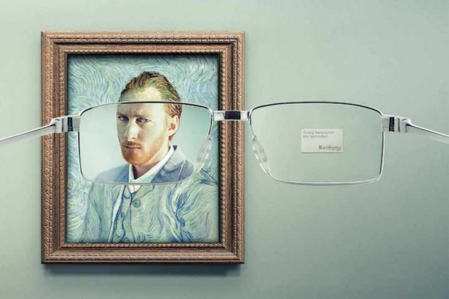 Clever ads transform famous paintings for glasses brand