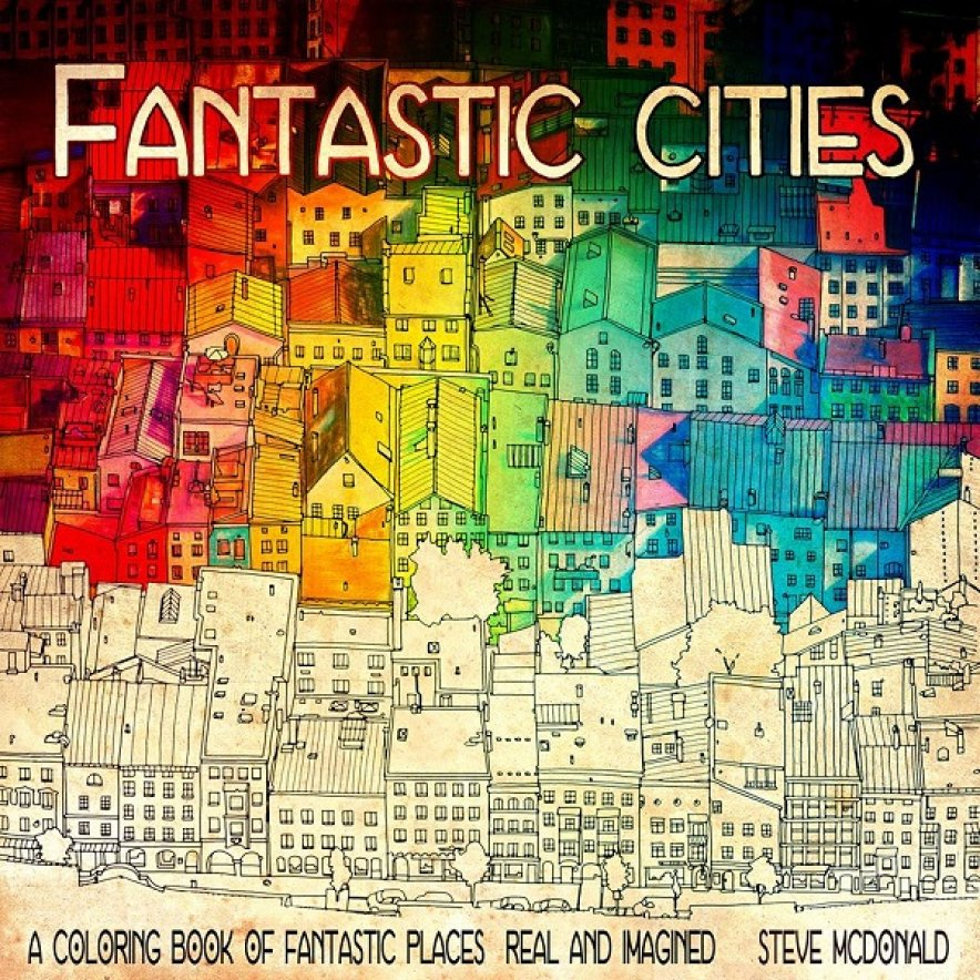 Colouring Books For Adults Featuring Famous Cities