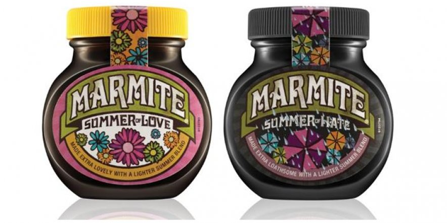'Summer of Love and Hate' jars by Marmite