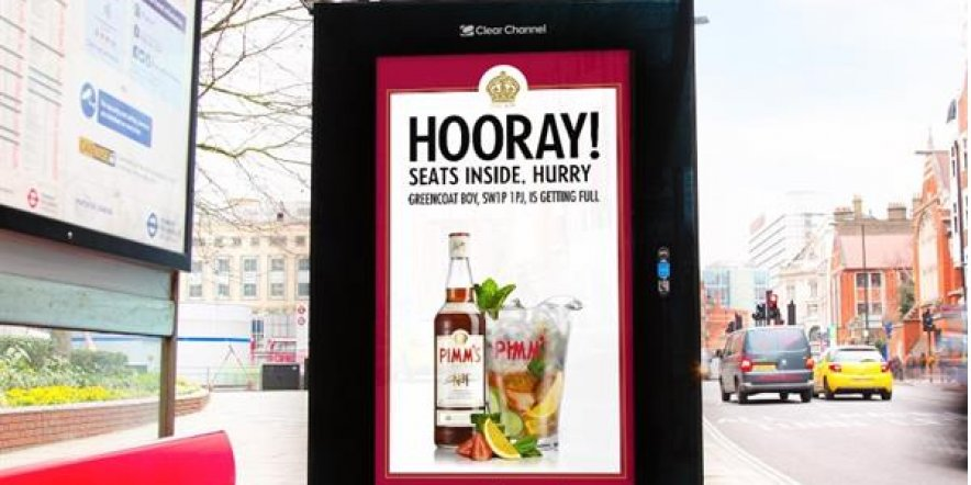 Pimm's launches innovative digital posters
