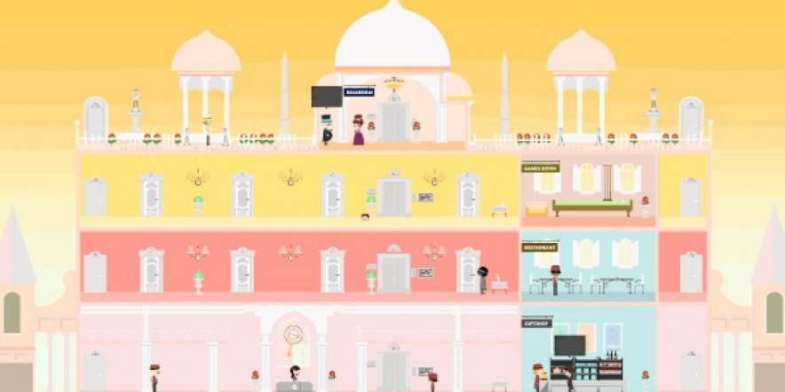 A video game inspired by The Grand Budapest Hotel