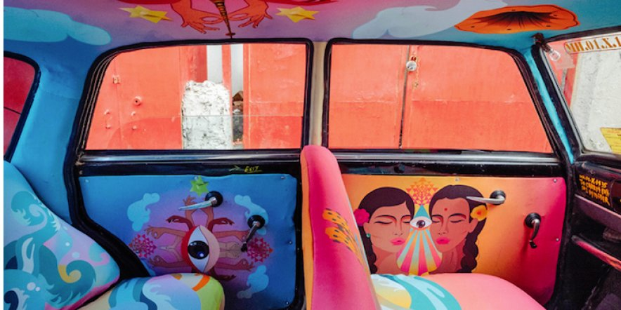 A splash of colour for Mumbai's taxis