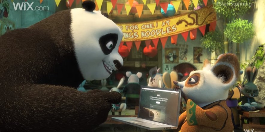 Kung Fu Panda mimics iconic ads