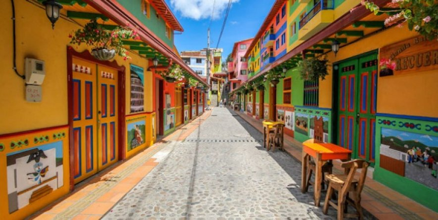 The most colourful town in the world