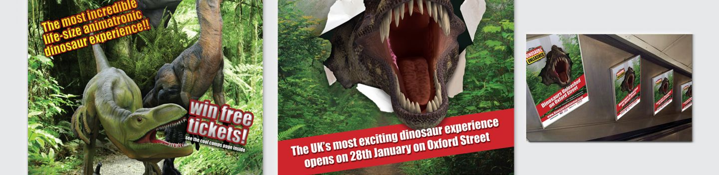 Dinosaurs Unleashed Brand Creation and Event Marketing