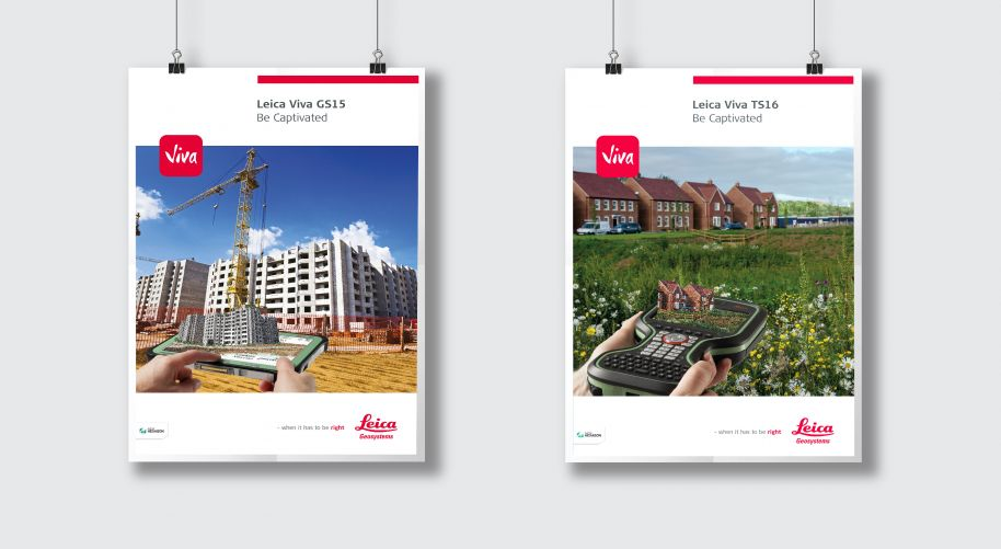 Design of print posters for Leica Captivate