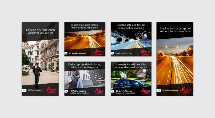Leica Geosystems advertising banners