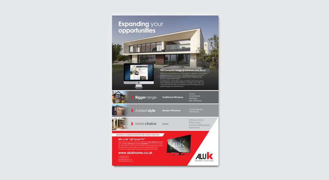 Trade advertising campaign for AluK