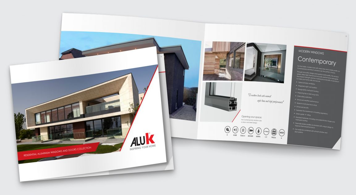 Literature and Brochure design for AluK
