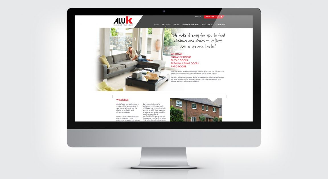 Website design and build for AluK