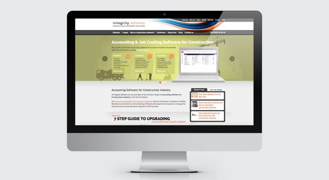 Integrity Software website design