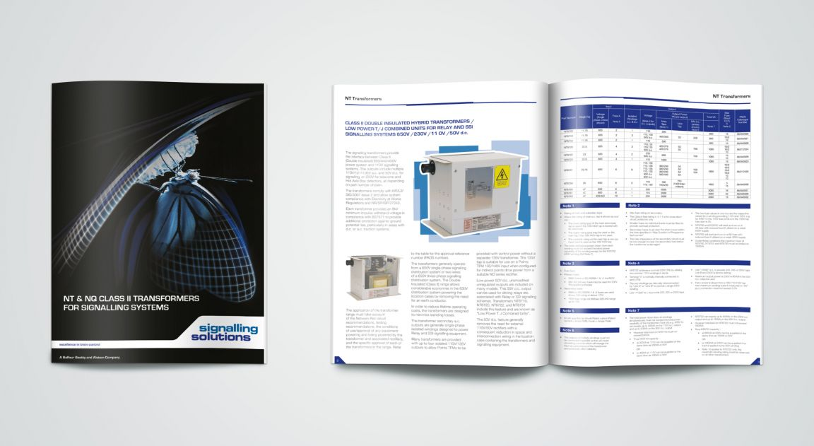 Brochure Design for Signalling Solutions