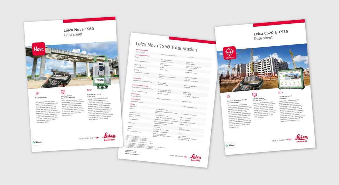 Print design for Leica Geosystems