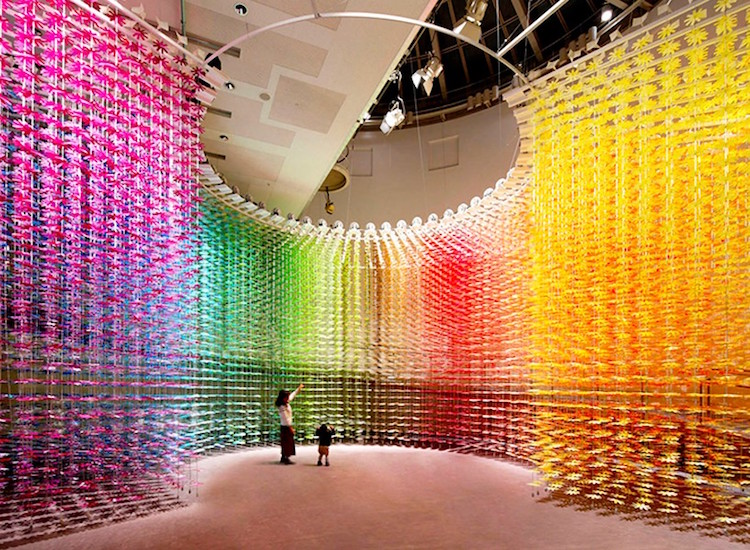 Color Mixing A Flower Installation