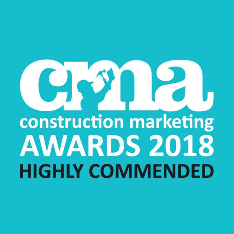 Highly Commended at the Construction Marketing Awards 2018