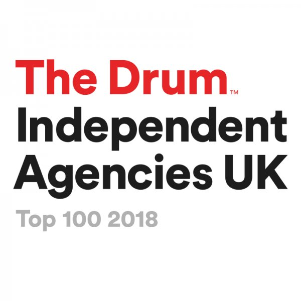 The Think Tank Listed in The Drum Top 100 Independent Agencies 2018