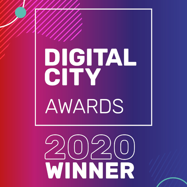 Winner at the Digital City Awards