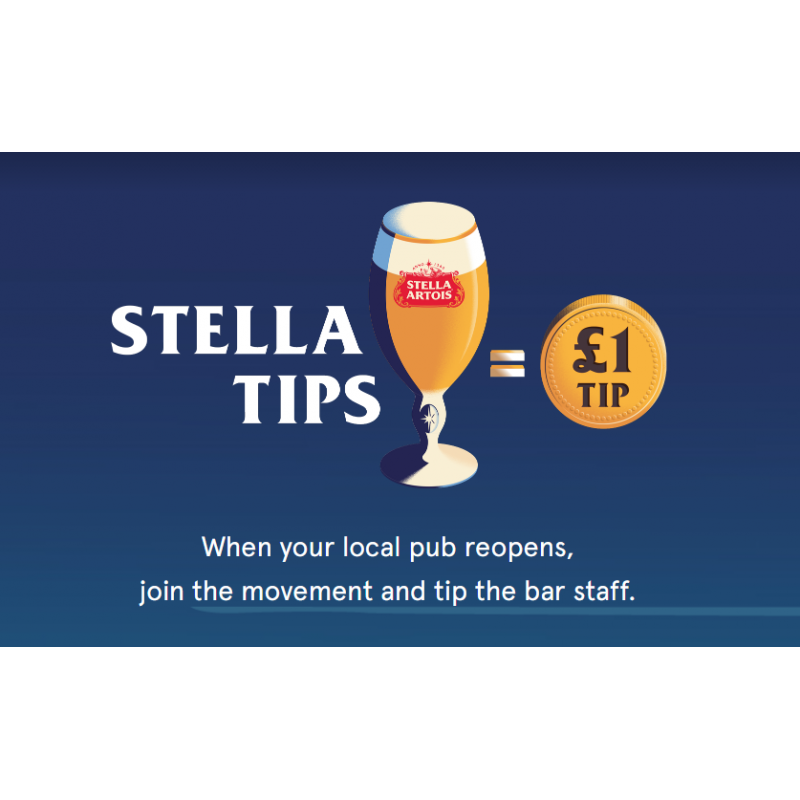 Stella tipping generously with new campaign