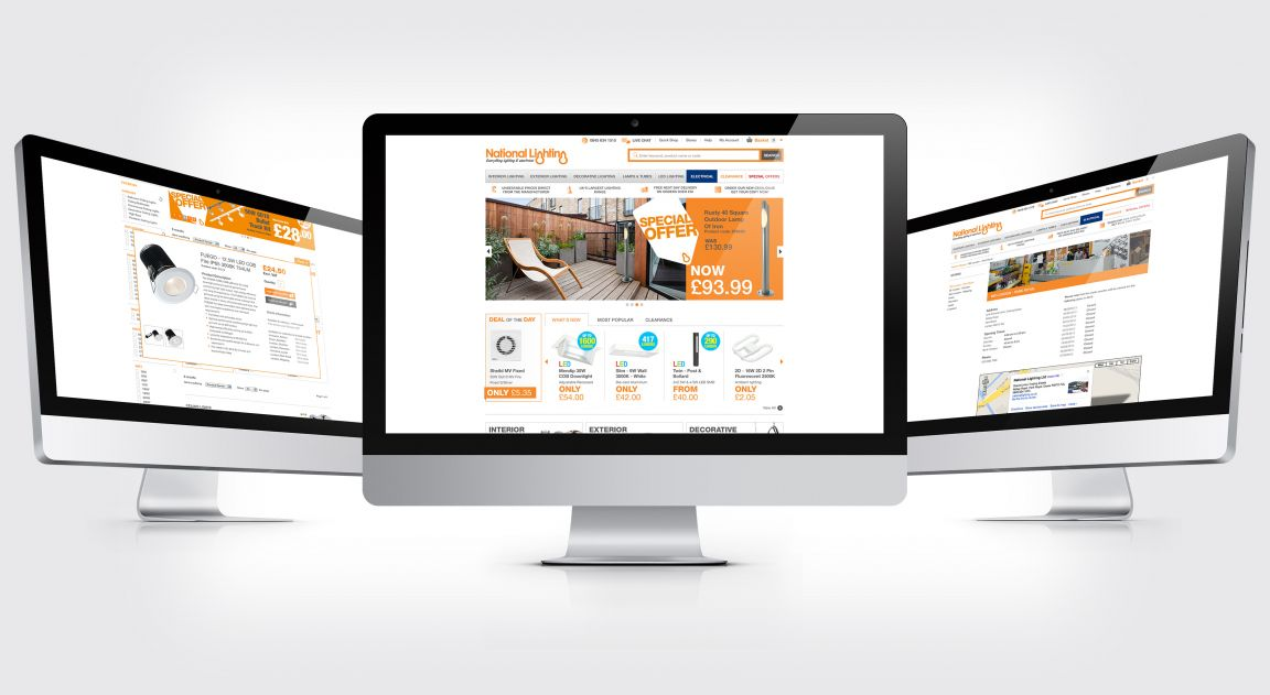 National Lighting Website Design and Build